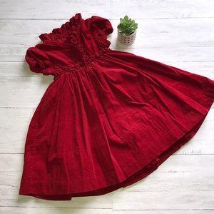 Ralph Lauren red corduroy dress